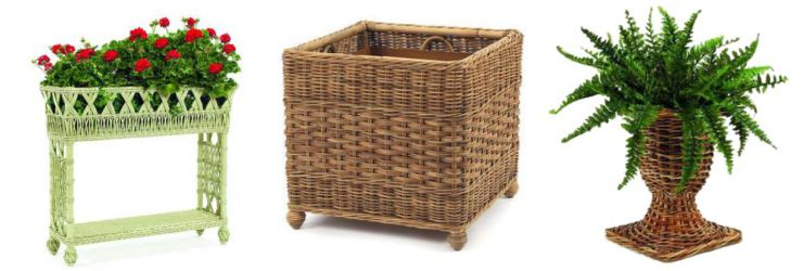 Natural Wicker Rattan Planters