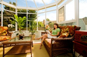 Sunroom with plants