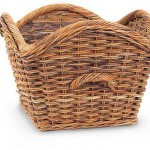 Laurel French Country Rattan Basket