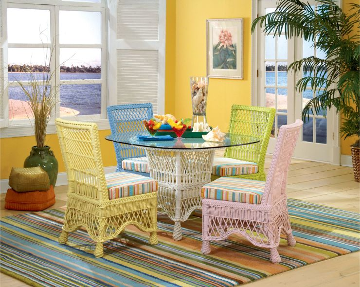 Naples Natural Indoor Wicker Dining Set