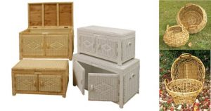 Wicker Storage Trunks and Rattan Baskets