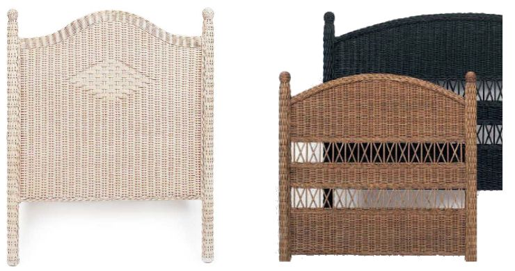 Fabric or Wicker Headboards