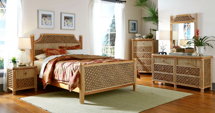 Get the Island Look with a Wicker Headboard