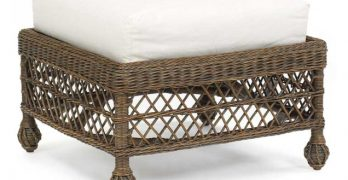 Multi-Purpose Wicker Ottomans for Style and Functionality