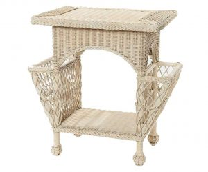 Wicker Magazine Side Table