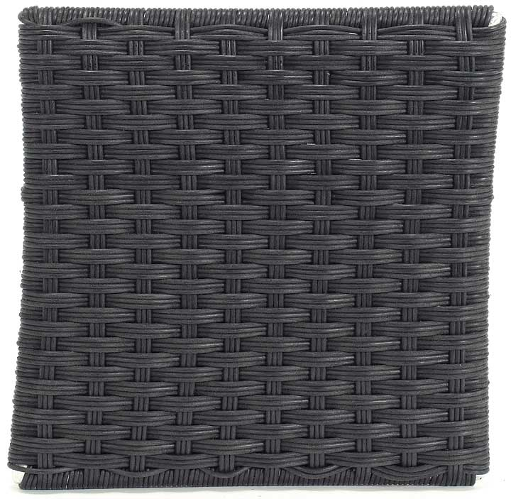 Polyethylene Wicker, Smokey Black Finish