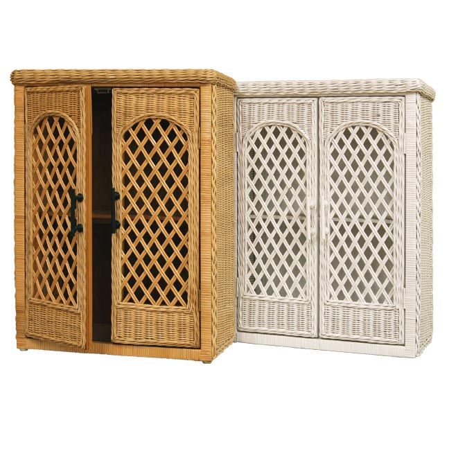 Trellis Wicker Wall Cabinet