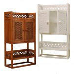 Attractive Wicker Cabinets for Your Bathroom