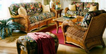 Kingston Reef Indoor Rattan Wicker Sunroom Furniture Set