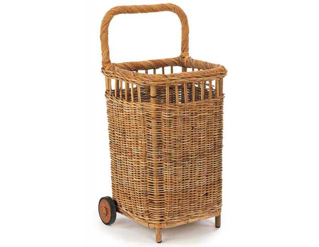 Small French Market Basket Cart