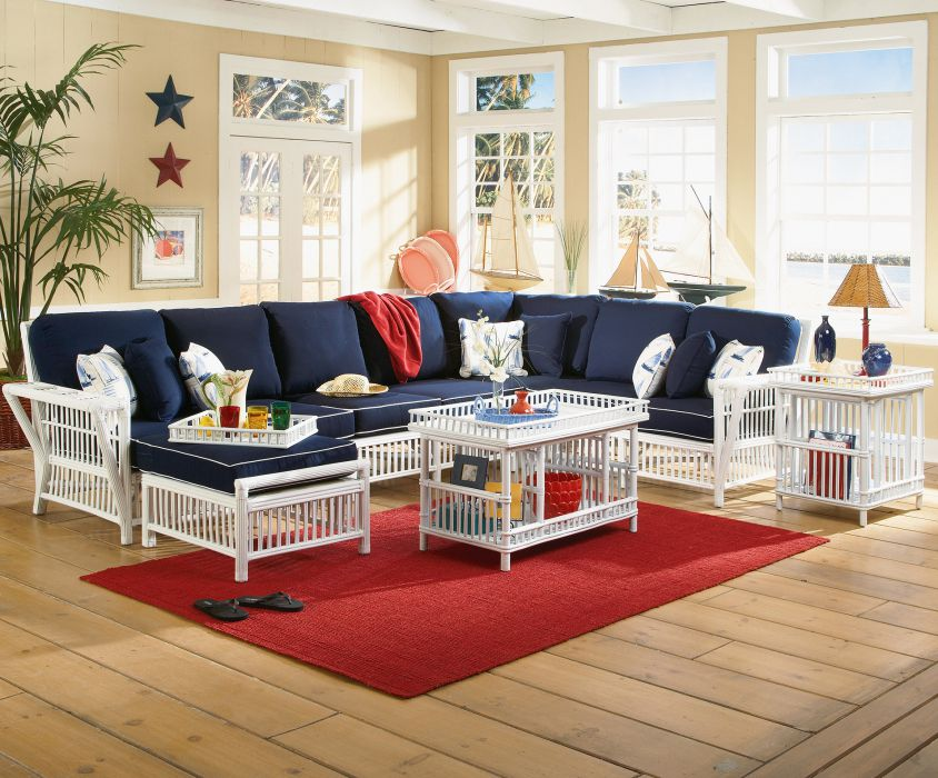 Williamsburg Rattan Sectional Set