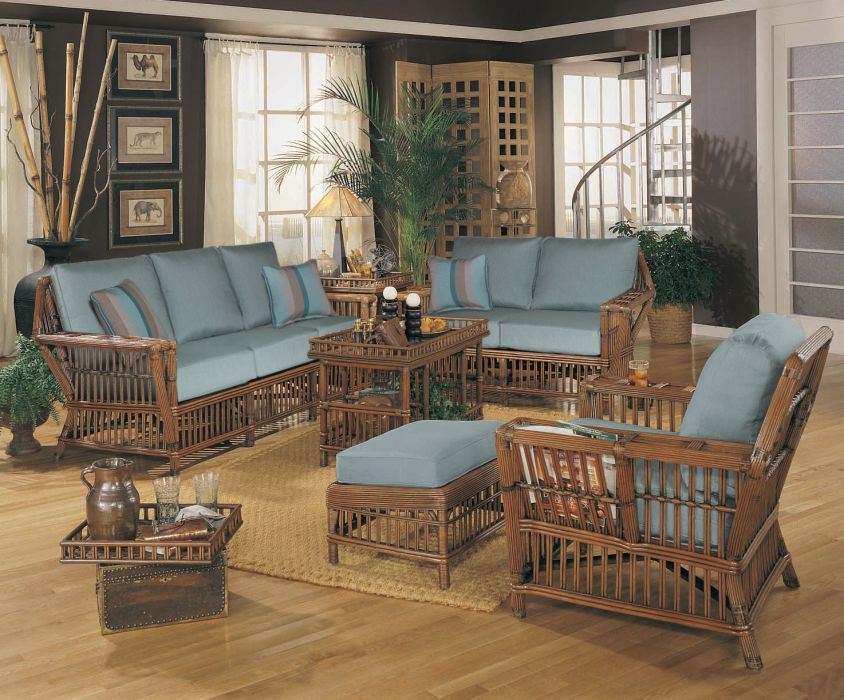 Williamsburg Indoor Rattan Sunroom Furniture Set