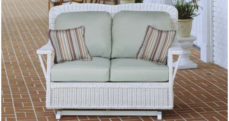 Manchester Wicker Glider Loveseat