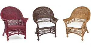 Wicker Chairs in 3 Different Colors