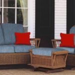 Wicker Glider Chair and Loveseat