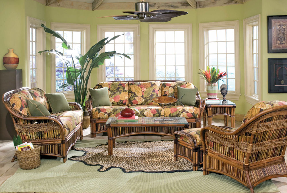 Finding wicker s place in colonial american decor blog for American house interior decoration