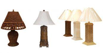 Indoor Wicker Lamps