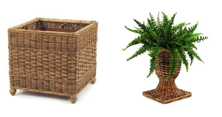 Indoor Wicker Planters