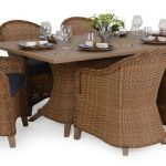 Savannah Resin Outdoor Wicker Dining Set for 7