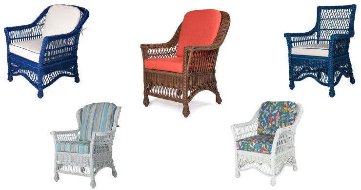 Indoor Wicker Dining Arm Chairs