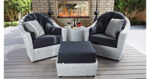 Isabella Resin Outdoor Wicker Swivel Lounge Chairs
