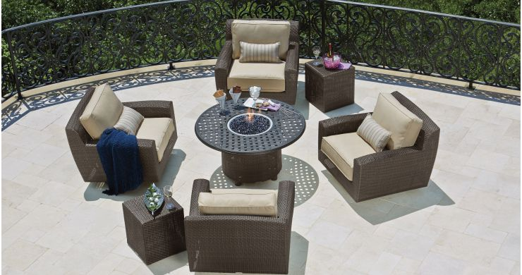Saddleback Resin Outdoor Wicker Conversation Set
