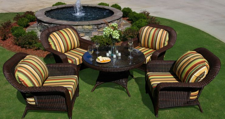 Sea Pines Resin Outdoor Wicker Conversation Set
