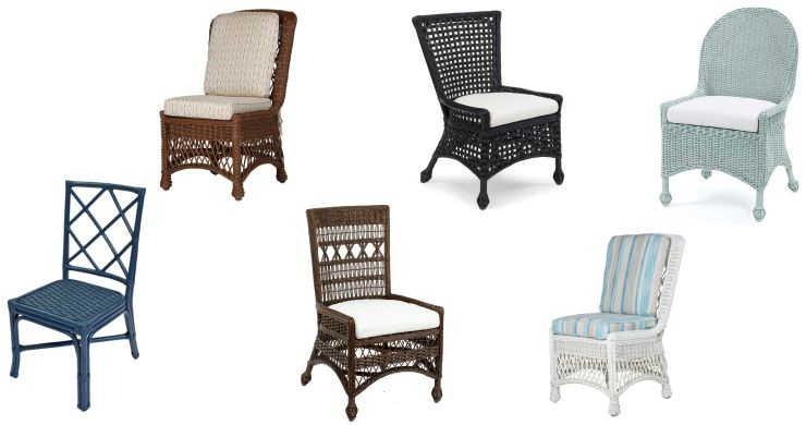 Wicker Side Dining Chairs