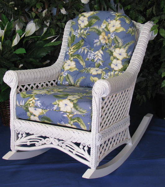 Gazebo Victorian Wicker Rocking Chair