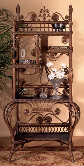 Victorian Wicker Fancy Cabinet