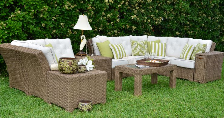 Isabel Resin Outdoor Wicker Sectional Set