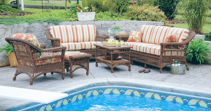 Bar Harbor Resin Outdoor Wicker Furniture Set