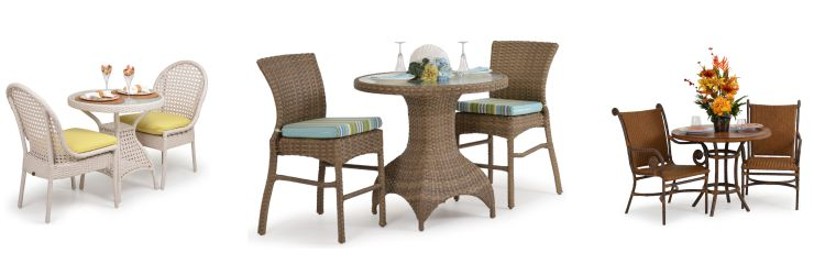 Resin Outdoor Wicker Bistro Sets