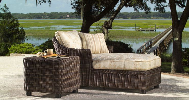 Sonoma Resin Outdoor Wicker Chaise Lounge