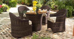 Sonoma Resin Outdoor Wicker Dining Set