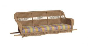 Sommerwind Resin Wicker Porch Sofa Swing