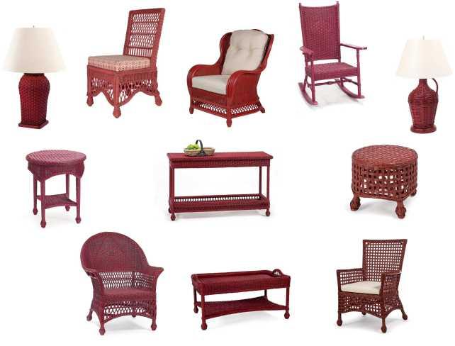 Red Wicker Furniture