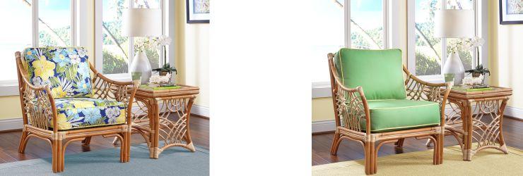 Indoor Bali Natural Rattan Arm Chairs