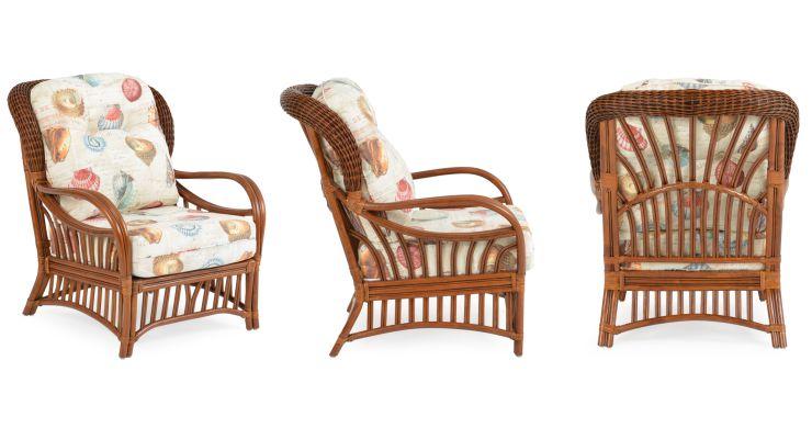 Hana Indoor Rattan Sunroom Lounge Chair