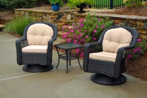 Biloxi Resin Outdoor Wicker Bistro Set