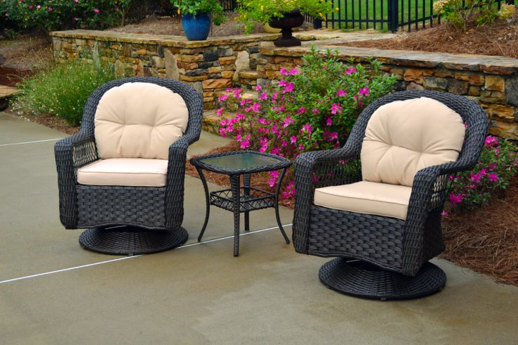 Your Own Slice of Paris, Wicker Bistro Sets