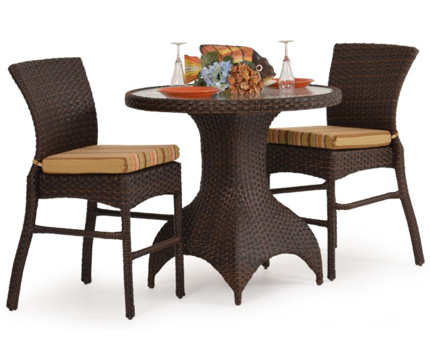 Isabel Outdoor Resin Wicker Bistro Set