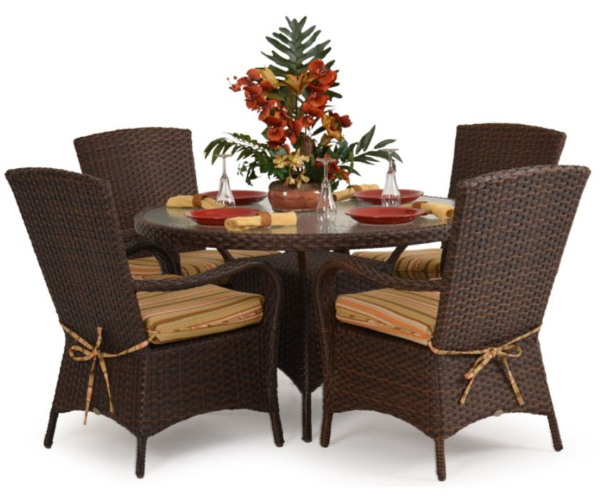 Isabel Resin Wicker Dining Set