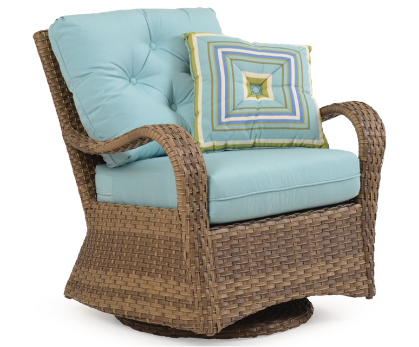 Isabel Resin Wicker Swivel Glider Chair