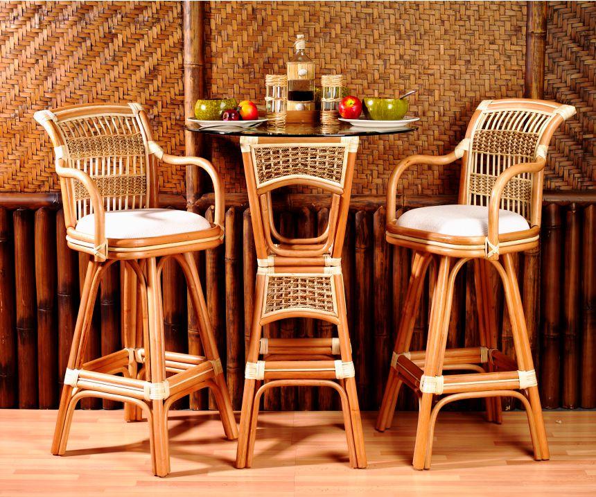 Spice Island Rattan Pub Table Set