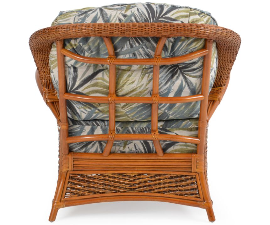 Lucia Rattan Wicker Lounge Chair rear view