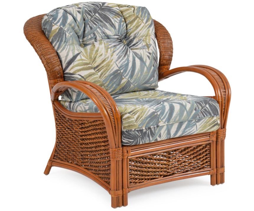 Lucia Rattan Wicker Lounge Chair