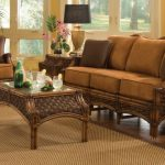 Mauna Loa Indoor Rattan Wicker Furniture Set Brown Wash Finish