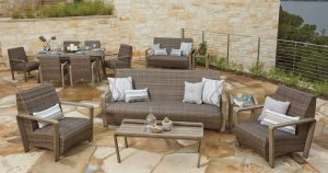 Reynolds HDPE Outdoor Wicker Furniture Collection