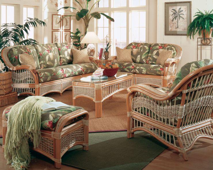 Seascape Rattan Sunroom Furniture Set